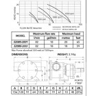 "Jabsco 52080-2001 1"" бронзовый насос, 80-размер"